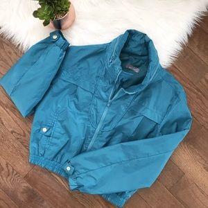 Alia UK 🇬🇧 Brand Windbreaker Teal Jacket Sz S